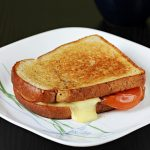 Tomato cheese sandwich recipe | Roasted tomato grilled cheese sandwich recipe