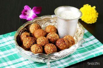 Instant sweet paniyaram recipe   Whole wheat flour appam recipe