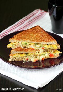 Bread omelet sandwich recipe   How to make omelette sandwich recipe
