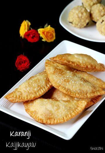 Karanji recipe video | Kajjikayalu recipe | How to make karanji recipe