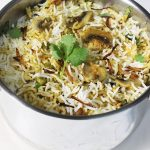 Mushroom dum biryani recipe | How to make mushroom dum biryani recipe