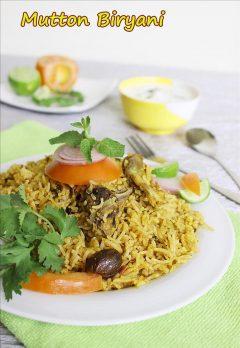 Easy mutton biryani recipe in pressure cooker | Simple mutton biryani