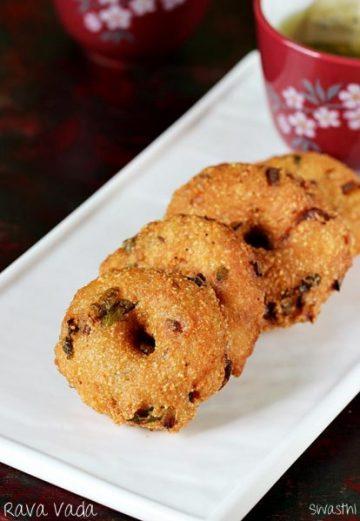 Rava vada recipe video   How to make instant rava vada   Suji vada recipe