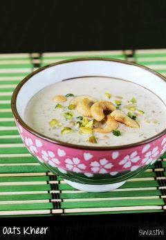 Oats kheer recipe video | How to make oats payasam recipe