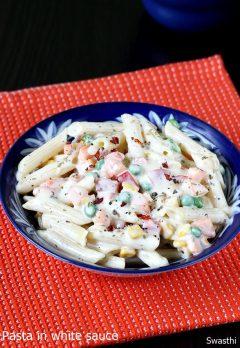Pasta in white sauce recipe video | White sauce pasta recipe with video