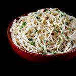 Spaghetti recipe | Spaghetti Aglio Olio recipe | Vegetarian spaghetti recipe