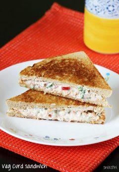 Veg curd sandwich recipe video    How to make vegetable curd sandwich recipe