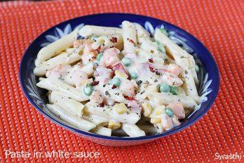White sauce pasta recipe | Pasta in white sauce recipe with video