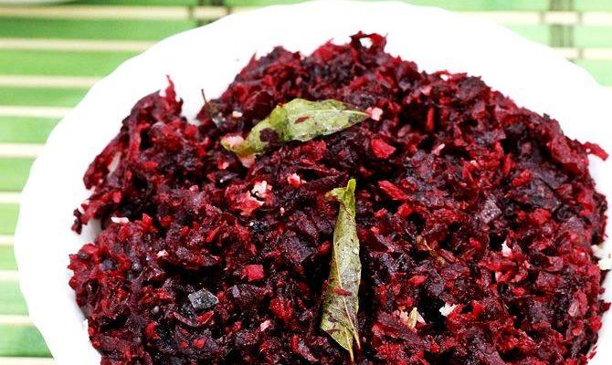 Beetroot thoran recipe with video | Kerala style beetroot stir fry recipe