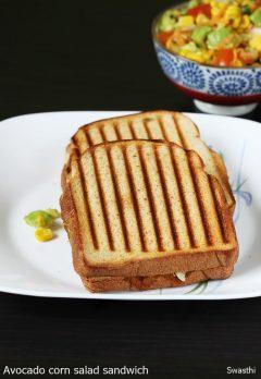 Avocado sandwich recipe | Veg avocado corn sandwich recipe