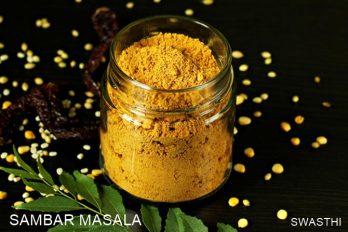 Sambar masala powder recipe   How to make sambar powder at home