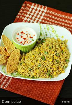 Corn pulao recipe video   Sweet corn rice pulao recipe