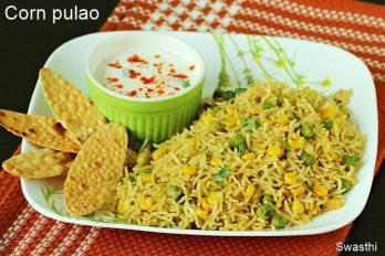 Corn pulao recipe video | Sweet corn rice pulao recipe