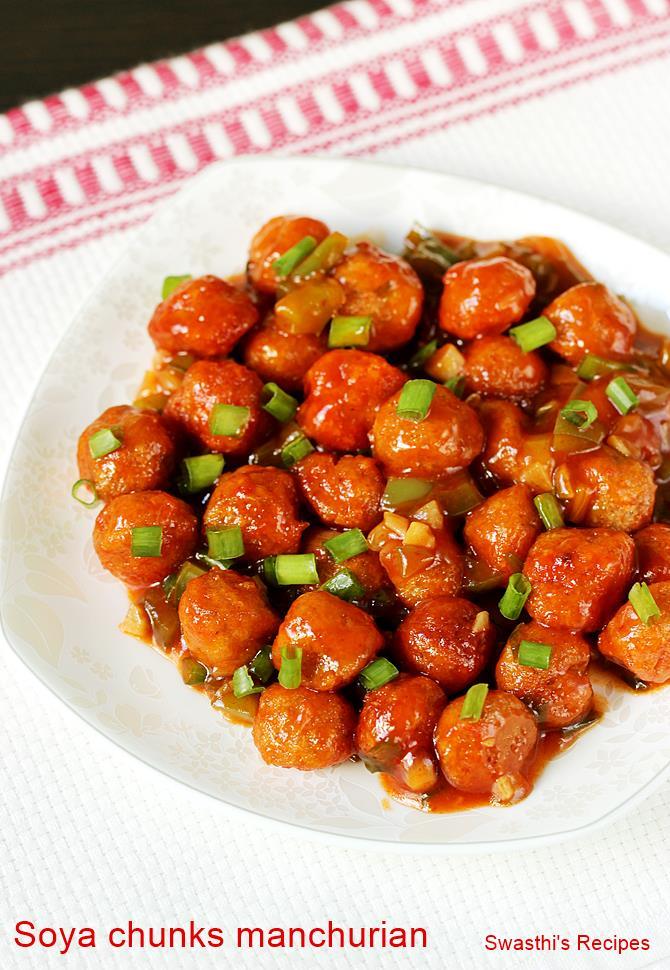 Soya chunks manchurian recipe video how to make soya manchurian forumfinder Gallery