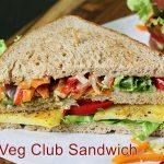 Veg club sandwich recipe |  Vegetarian sandwich recipe