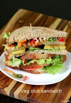 Veg club sandwich recipe    Vegetarian club sandwich recipe