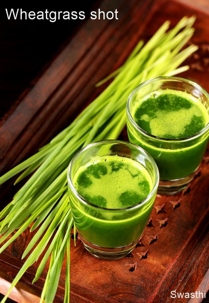 how to make wheatgrass shots
