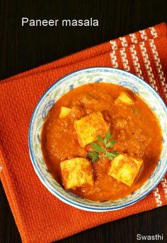 Paneer masala curry recipe video | How to make paneer curry recipe