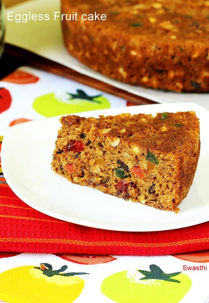 Eggless christmas fruit cake recipe How to make fruit cake without