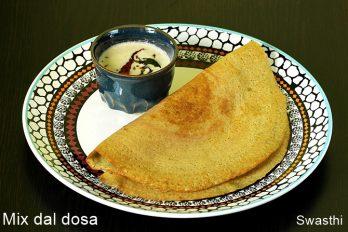 Mixed dal dosa recipe | Mix dal dosa recipe without rice