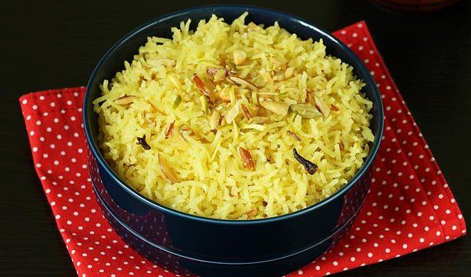 Zarda recipe   Zarda pulao   Sweet rice recipe
