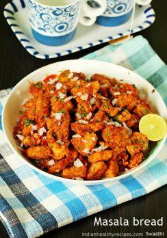 Bread masala | Spicy masala bread recipe